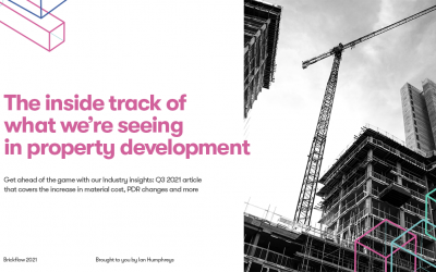 The inside track on what we're seeing in property development
